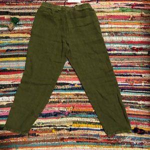Zara Pants - 100% linen- Zara jogger style pants- XS- New